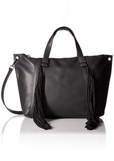 Steve Madden Blucyy Fringe Tote Bag, Black, One Size