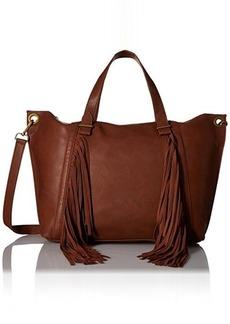 Steve Madden Blucyy Fringe Tote Bag, Cognac, One Size