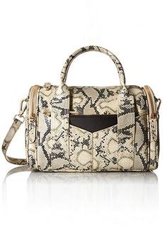 Steve Madden Bpully Mini Barrel Satchel Shoulder Handbag Natural Multi, One Size
