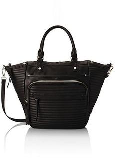 Steve Madden Bravenn Tote Satchel Bag, Black, One Size