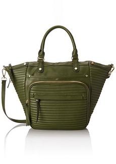 Steve Madden Bravenn Tote Satchel Bag, Green, One Size