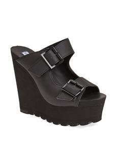 Steve Madden 'Buckle Up' Platform Wedge Sandal (Women)