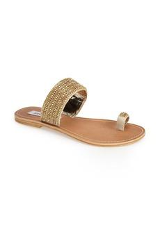 Steve Madden 'Caladra' Crystal Embellished Toe Loop Sandal (Women)