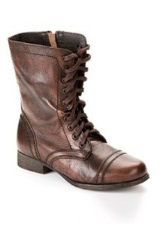 Steve Madden Combat Leather Boots