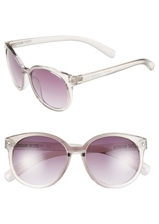 Steve Madden 'Crystal' 54mm Oval Sunglasses