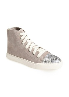 Steve Madden 'Eastman' Suede & Snake Embossed Leather Sneaker (Women)
