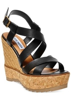 Steve Madden Ellaa Cork Platform Wedge Sandals Women's Shoes