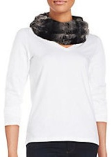STEVE MADDEN Faux Fur Cowl Scarf