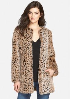 Steve Madden Faux Fur Leopard Print Coat