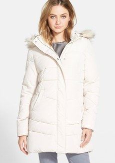 Steve Madden Faux Fur Trim Hooded Quilted Coat