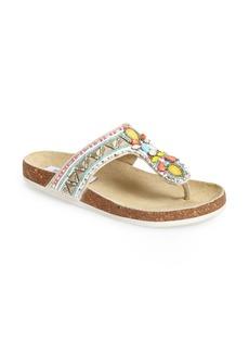 Steve Madden 'Fiessta' Embellished Thong Sandal (Women)