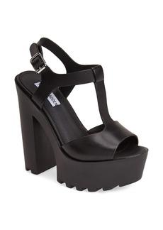 Steve Madden 'Girltalk' Leather Platform Sandal (Women)