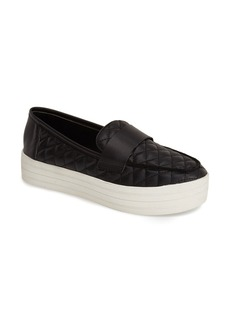 Steve Madden 'Howell' Quilted Slip-On Platform Sneaker (Women)