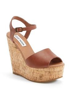 Steve Madden 'Korkey' Ankle Strap Wedge Platform Sandal (Women)