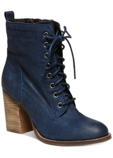 Steve Madden Lauuren Lace-Up Booties Women's Shoes