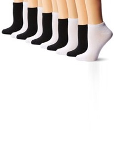 Steve Madden Legwear Women's Lc Solid Athletic 10-Pack Socks