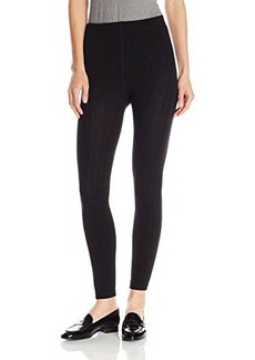 Steve Madden Legwear Women's Ribbed Fleece Lined Legging