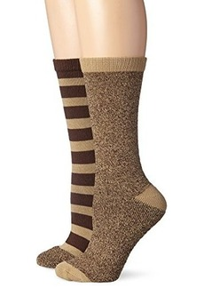 Steve Madden Legwear Women's Two-Pack Striped-Marl Boot Socks