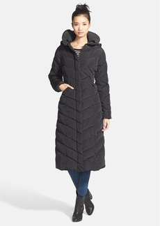 Steve Madden Long Quilted Coat with Removable Hood