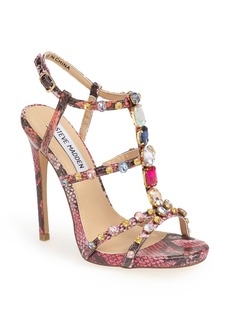 Steve Madden 'Majestyc' Jeweled T-Strap Sandal (Women)