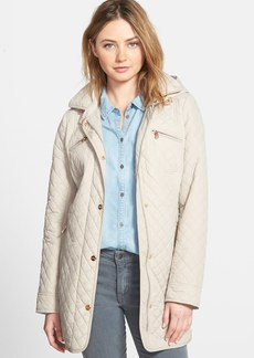 Steve Madden Mini Quilted Jacket with Removable Hood