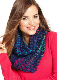 Steve Madden Multi Color Woven Infinity Loop Scarf