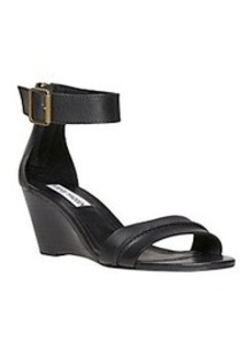 "Steve Madden® ""Neliee"" Ankle Strap Wedge Sandals - Black"