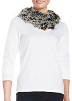 STEVE MADDEN Ombre Faux Fur Scarf