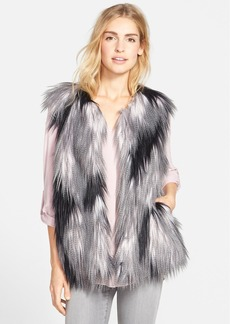 Steve Madden Patchwork Faux Fur Vest