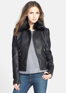 Steve Madden Pebbled Faux Leather Jacket