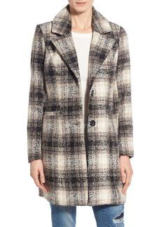 Steve Madden Plaid Menswear Coat