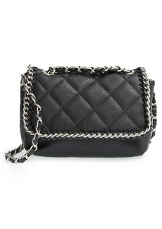 Steve Madden Quilted Flap Faux Leather Crossbody Bag