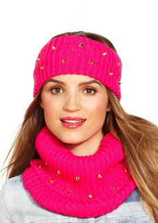 Steve Madden Ribbed and Studded Snood Scarf