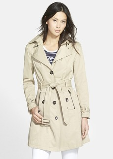 Steve Madden Single Breasted Hooded Trench Coat