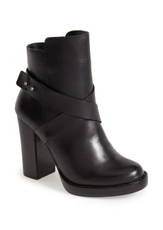Steve Madden 'Sizzzlee' Leather Platform Bootie (Women)