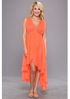 Steve Madden Solid Grecian High/Low Cover-Up