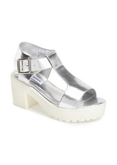 Steve Madden 'Stefano' T-Strap Leather Platform Sandal (Women)