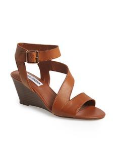 Steve Madden 'Stipend' Wedge Leather Sandal (Women)