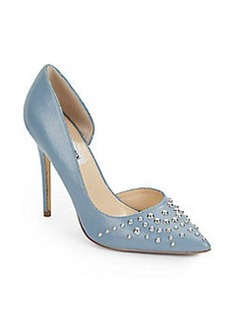 Steve Madden Studded Leather Point-Toe Pumps