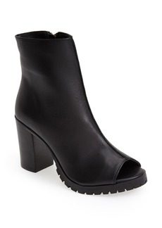 Steve Madden 'Traffic' Open Toe Leather Bootie (Women)
