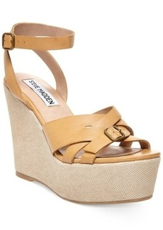 Steve Madden Twizter Ankle Strap Platform Wedge Sandals Women's Shoes