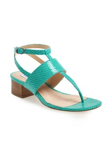 Steve Madden 'Verro' Snake Embossed Sandal (Women)