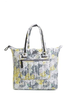 Steve Madden Waterproof Chevron Quilted Nylon Tote