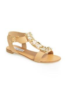 Steve Madden 'Wiktor' Embellished T-Strap Sandal (Women)
