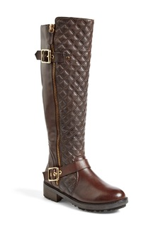 Steve Madden 'Willits' Quilted Moto Boot (Women)