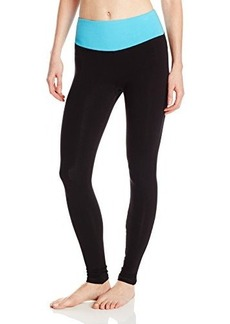 Steve Madden Women's Fitted Legging with Contrast Waist