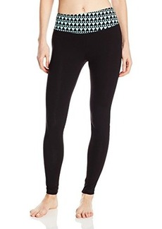Steve Madden Women's Fitted Legging with Geometric Waist