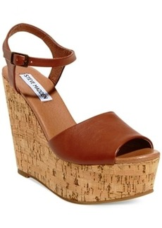 Steve Madden Women's Korkey Two-Piece Platform Wedge Sandals Women's Shoes