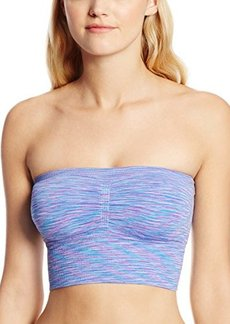 Steve Madden Women's Space Dye Seamless Strapless Crop Bra