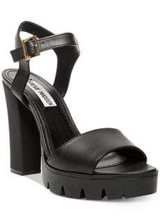 Steve Madden Women's Traviss Lug Bottom Platform Dress Sandals Women's Shoes